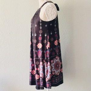 Black/patterned halter dress